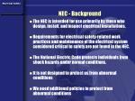 nec background