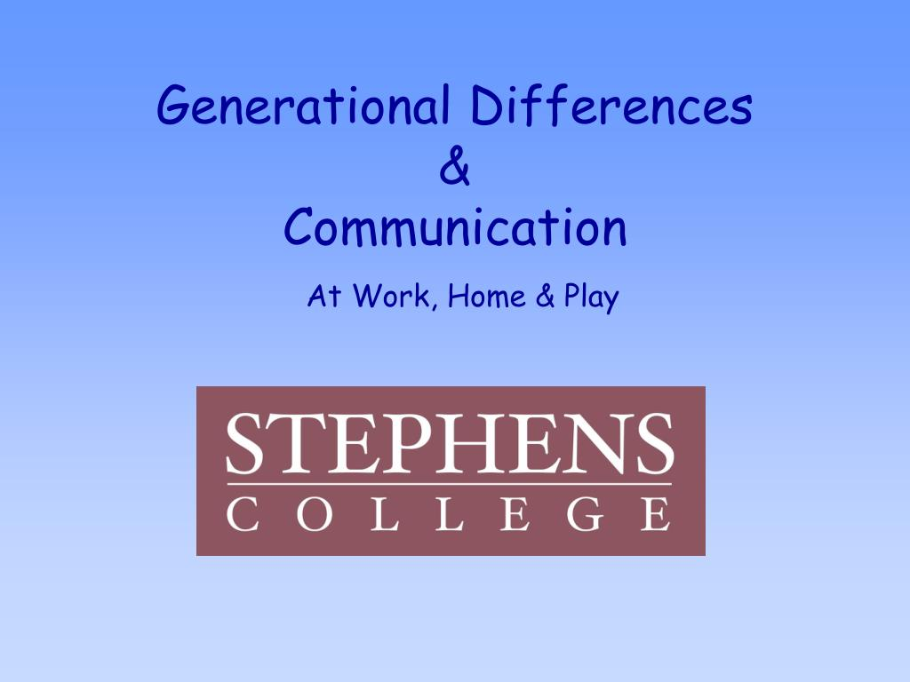 generational differences communication l.