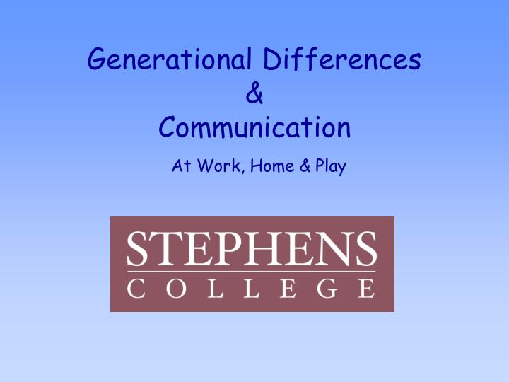 generational differences communication n.