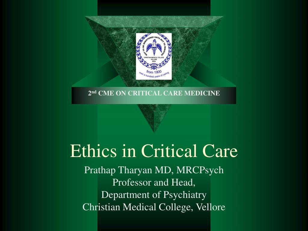 ethics in critical care l.