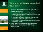 what is the need to discuss medical ethics now6