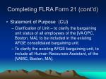 completing flra form 21 cont d