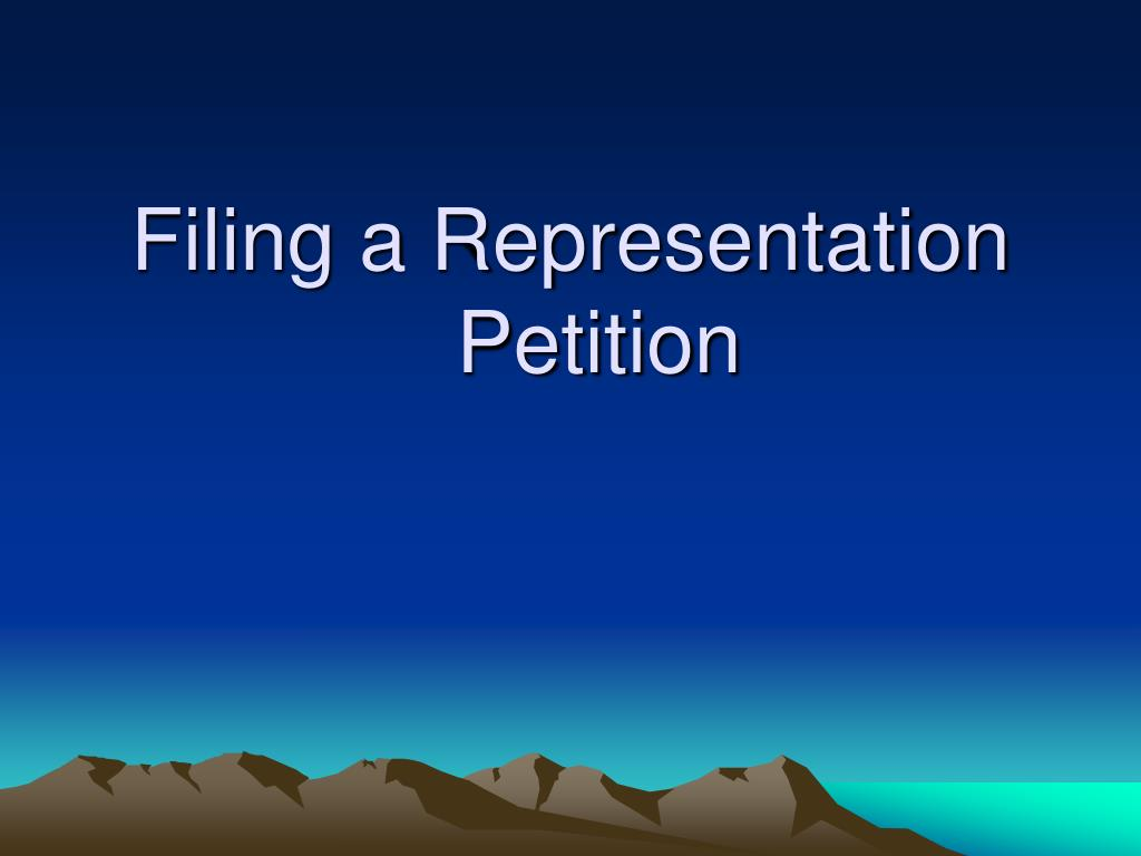 filing a representation petition l.