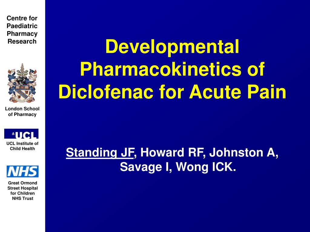 Developmental Pharmacokinetics of Diclofenac for Acute Pain