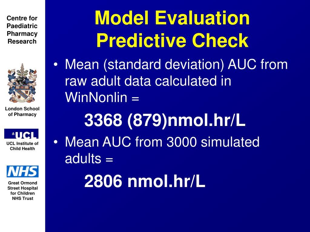 Model Evaluation   Predictive Check