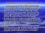 authoritarian tendencies in the emergency the global south