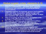 global organic crisis elements 6 10