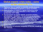 global organic crisis today some further elements 1 5