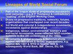 lineages of world social forum