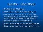 baclofen side effects