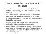 limitations of the macroeconomic measure