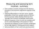measuring and assessing farm incomes summary