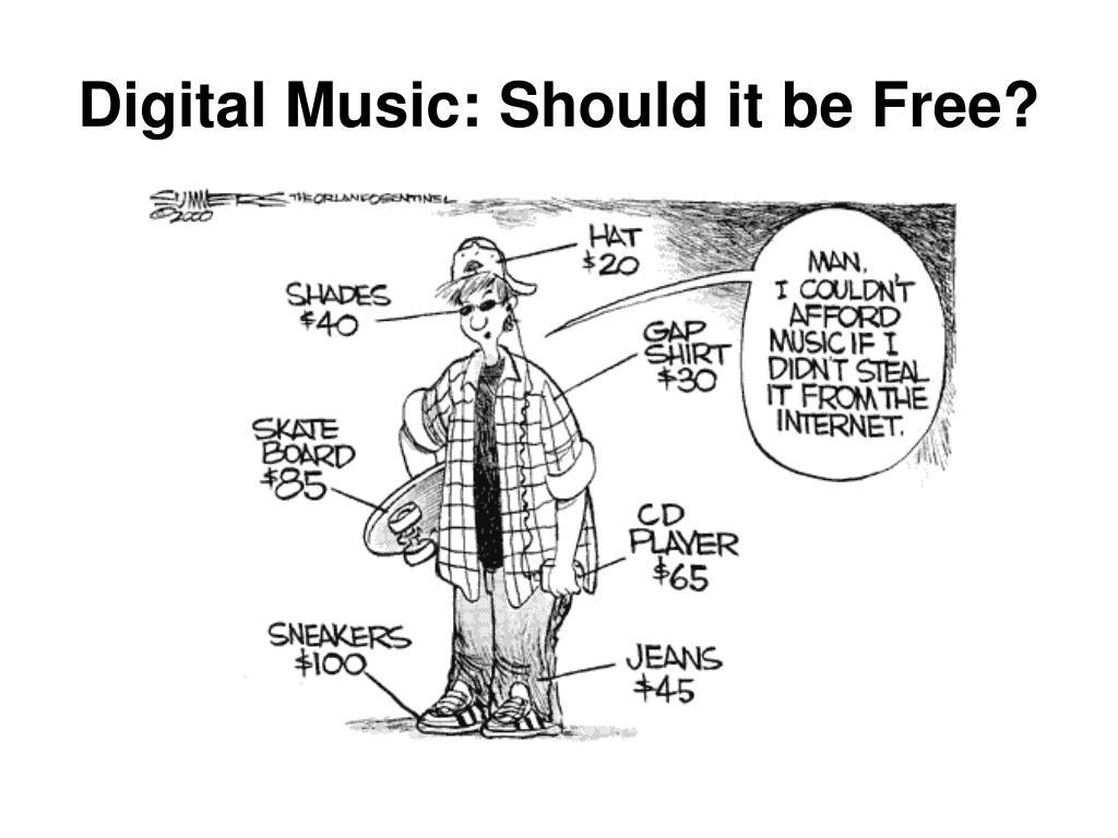 digital music should it be free l.