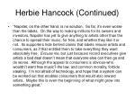 herbie hancock continued