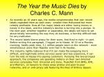 the year the music dies by charles c mann