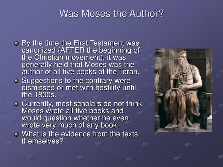 Was moses the author