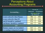 perceptions about accounting programs