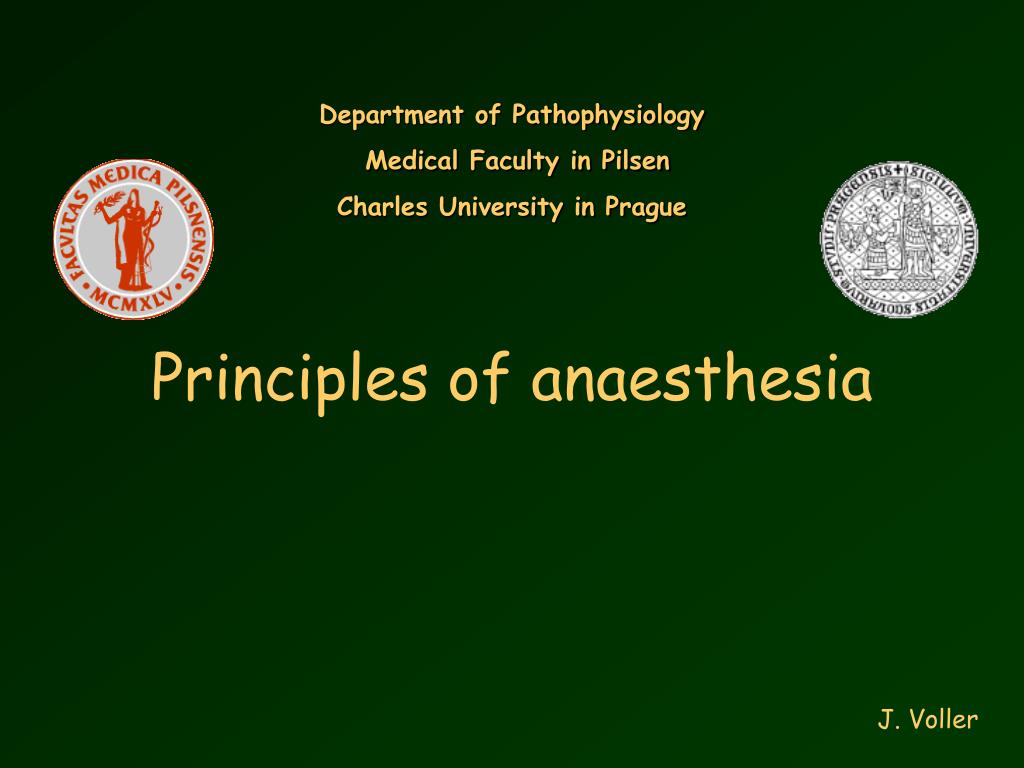 principles of anaesthesia