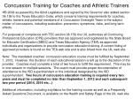 concussion training for coaches and athletic trainers