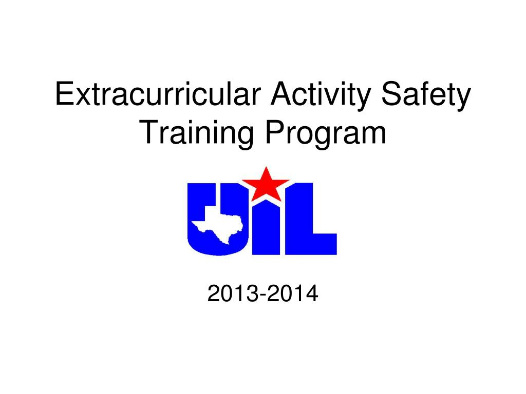 extracurricular activity safety training program l.
