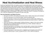 heat acclimatization and heat illness