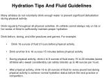 hydration tips and fluid guidelines
