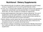 nutritional dietary supplements