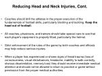 reducing head and neck injuries cont