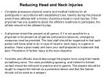 reducing head and neck injuries