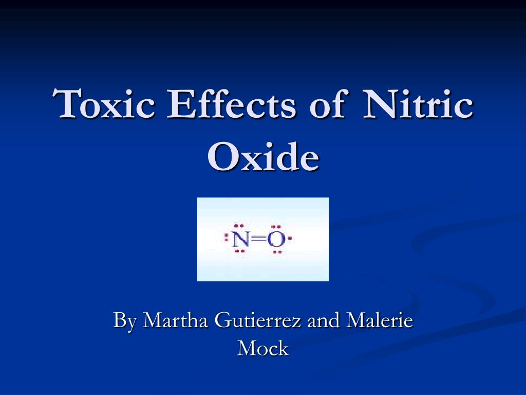 toxic effects of nitric oxide l.