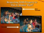 respecting nms property is the jr huskie way