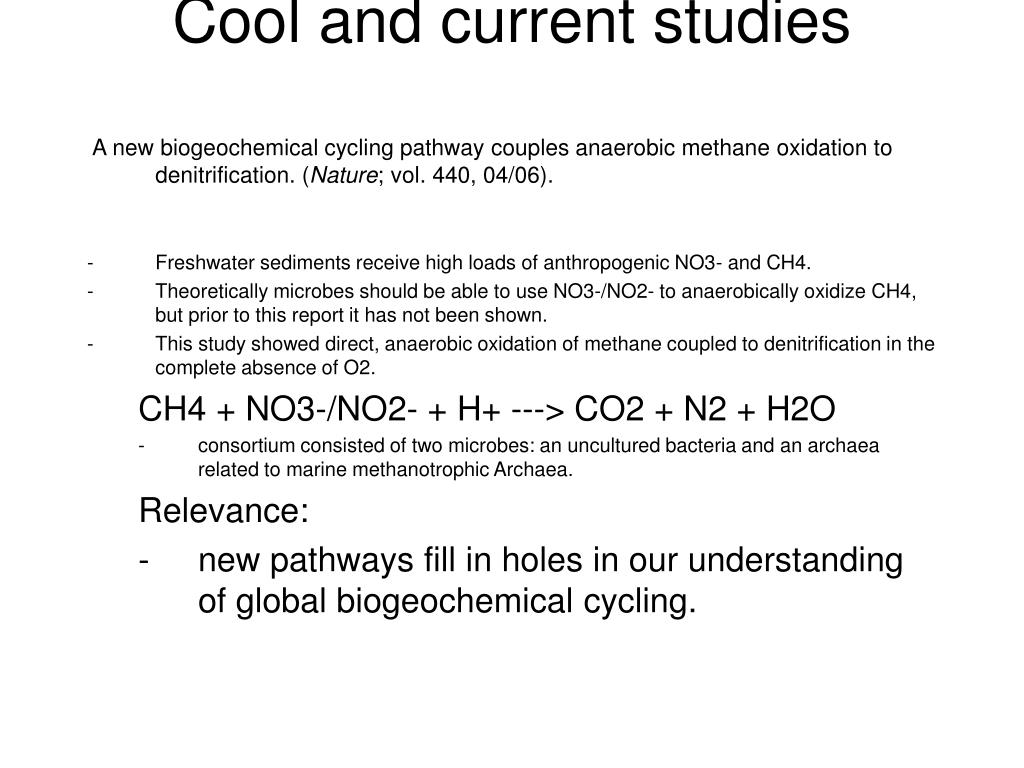Cool and current studies