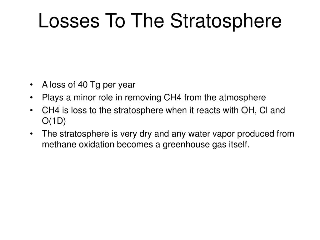 Losses To The Stratosphere