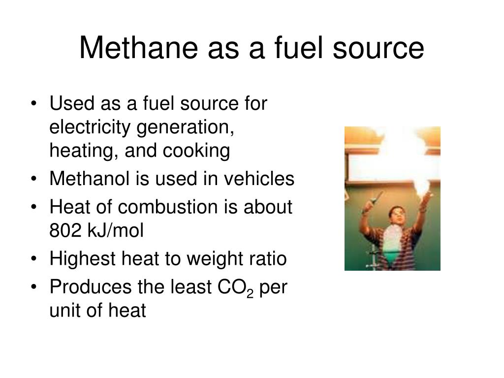 Methane as a fuel source