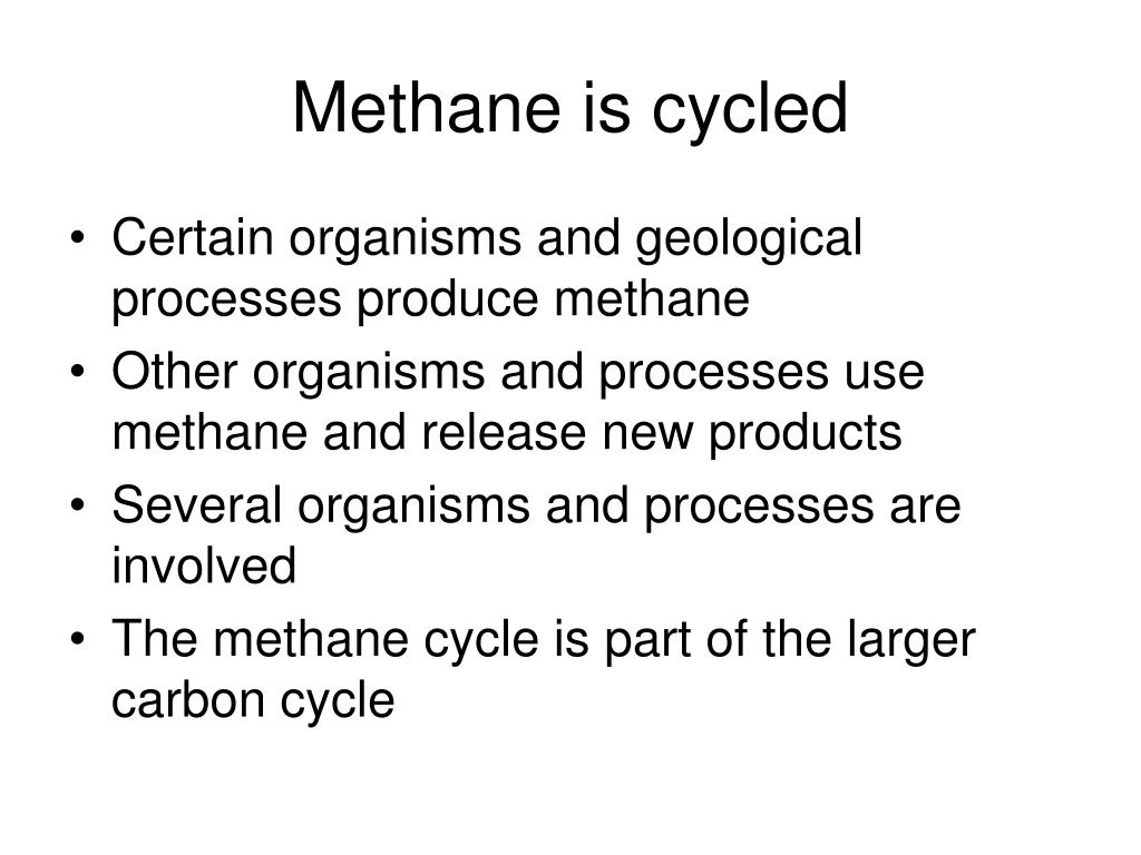 Methane is cycled
