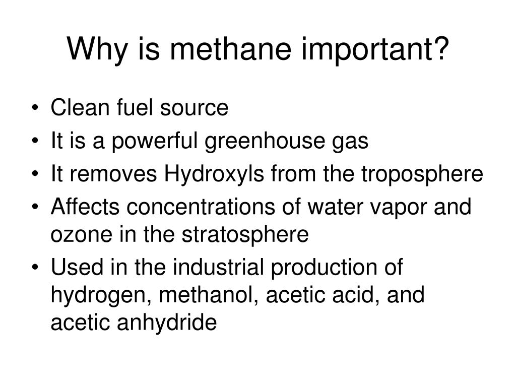 Why is methane important?