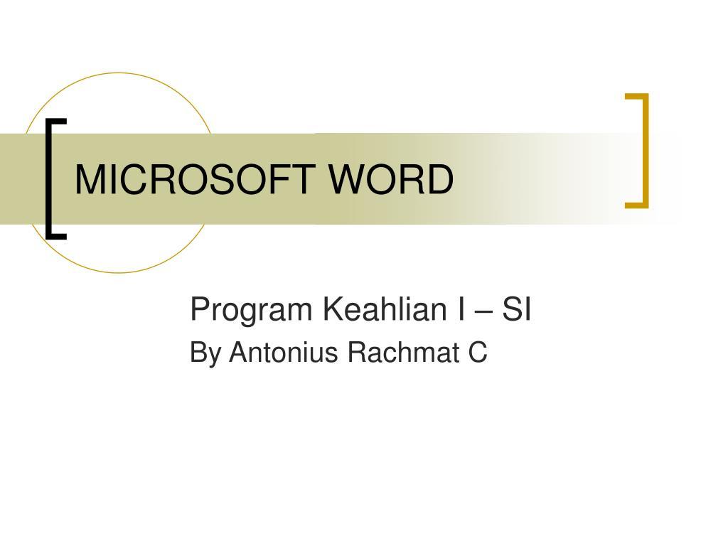 microsoft word l.