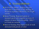 b training methods