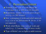 c prescription content