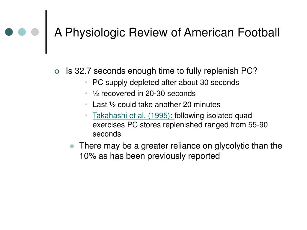 A Physiologic Review of American Football