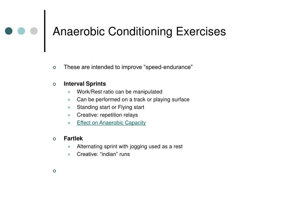 Anaerobic Conditioning Exercises