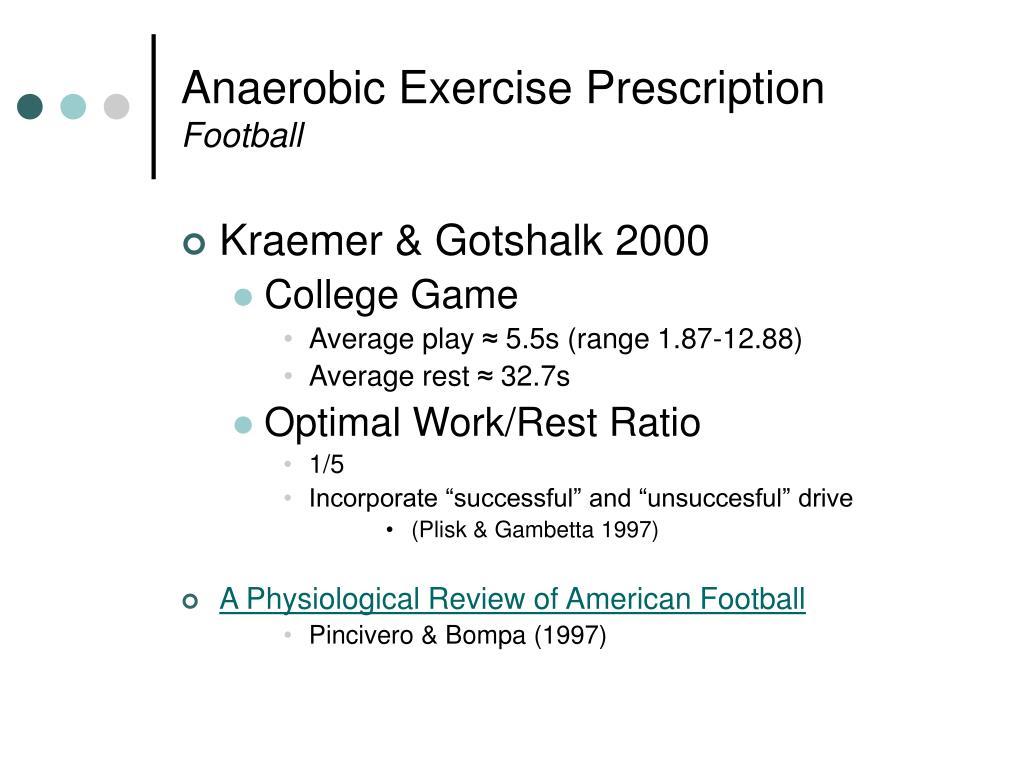 Anaerobic Exercise Prescription