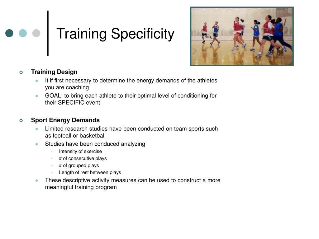 Training Specificity