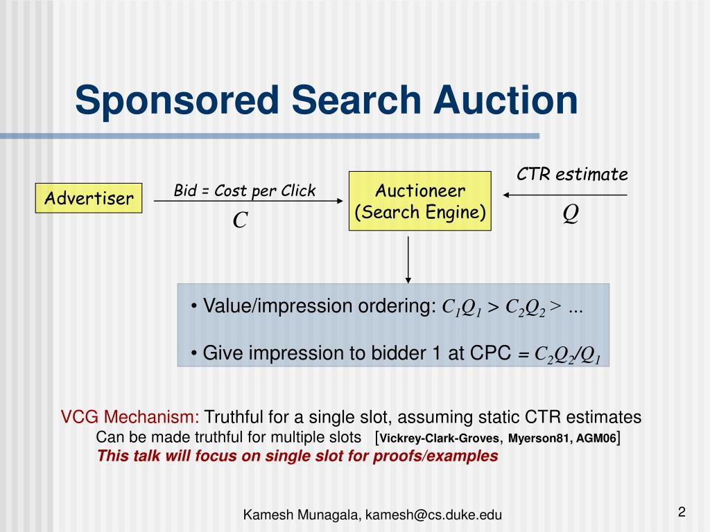 Sponsored Search Auction