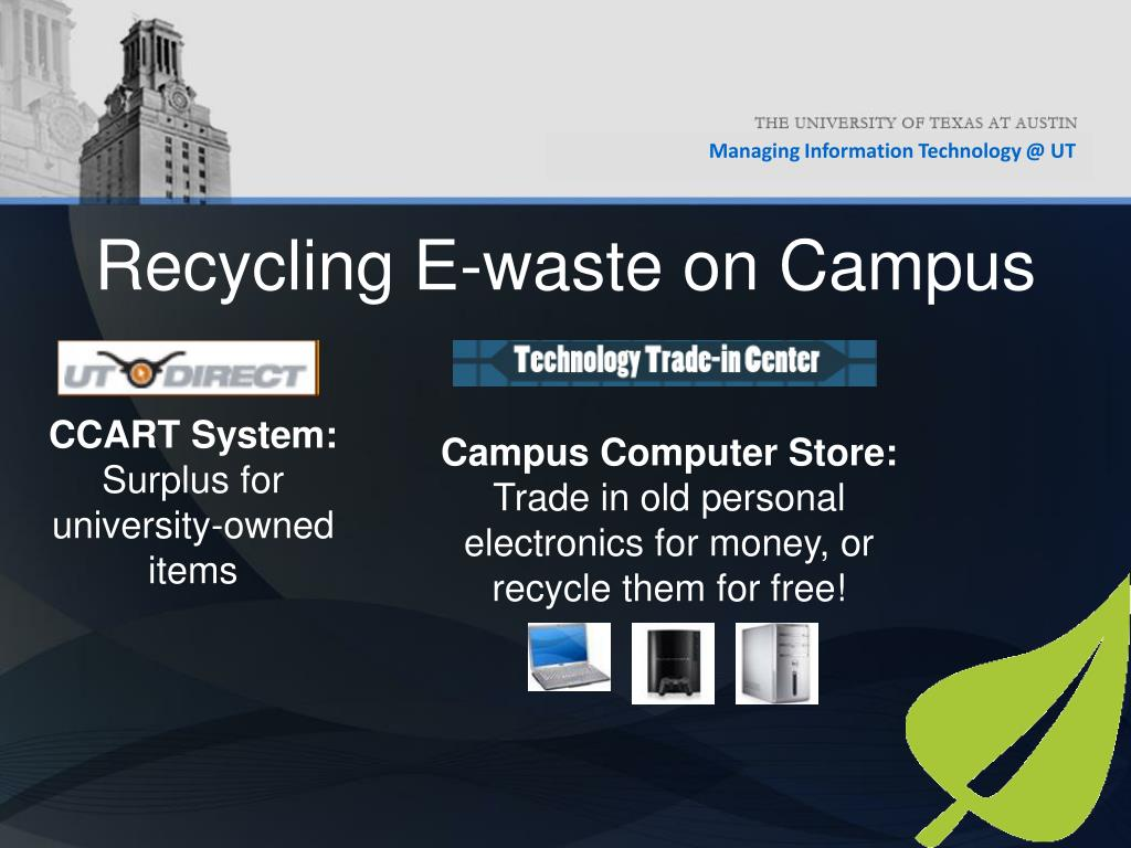 Recycling E-waste on Campus