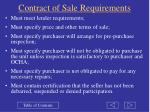 contract of sale requirements