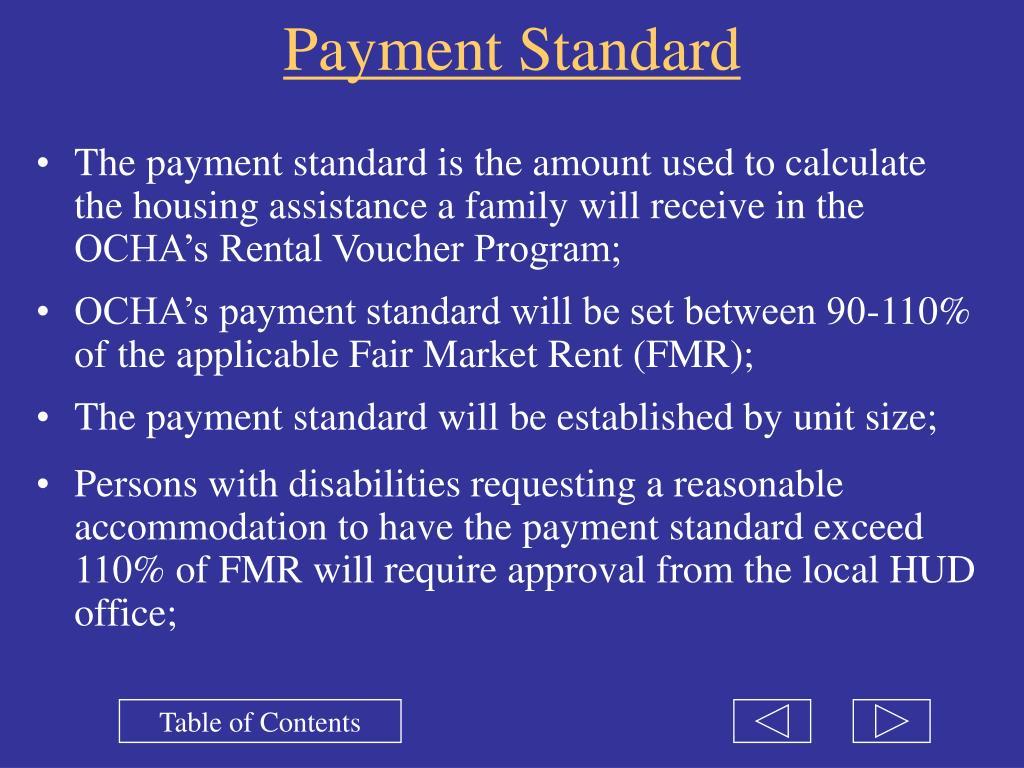 Payment Standard