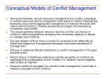 conceptual models of conflict management