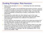 guiding principles risk aversion