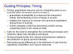 guiding principles timing